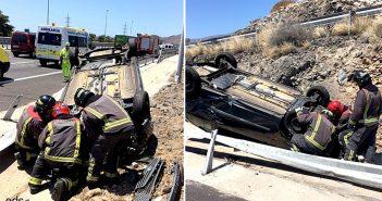 Четыре человека были ранены сегодня в автомобильной аварии на Тенерифе
