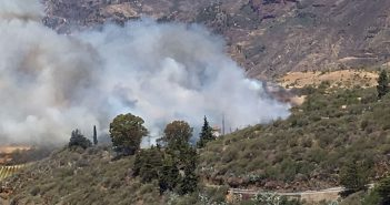 Первые пожары на Канарах, пока что на соседнем острове