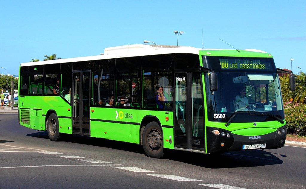 Островной Совет Тенерифе расширяет время работы автобусов TITSA на юге острова