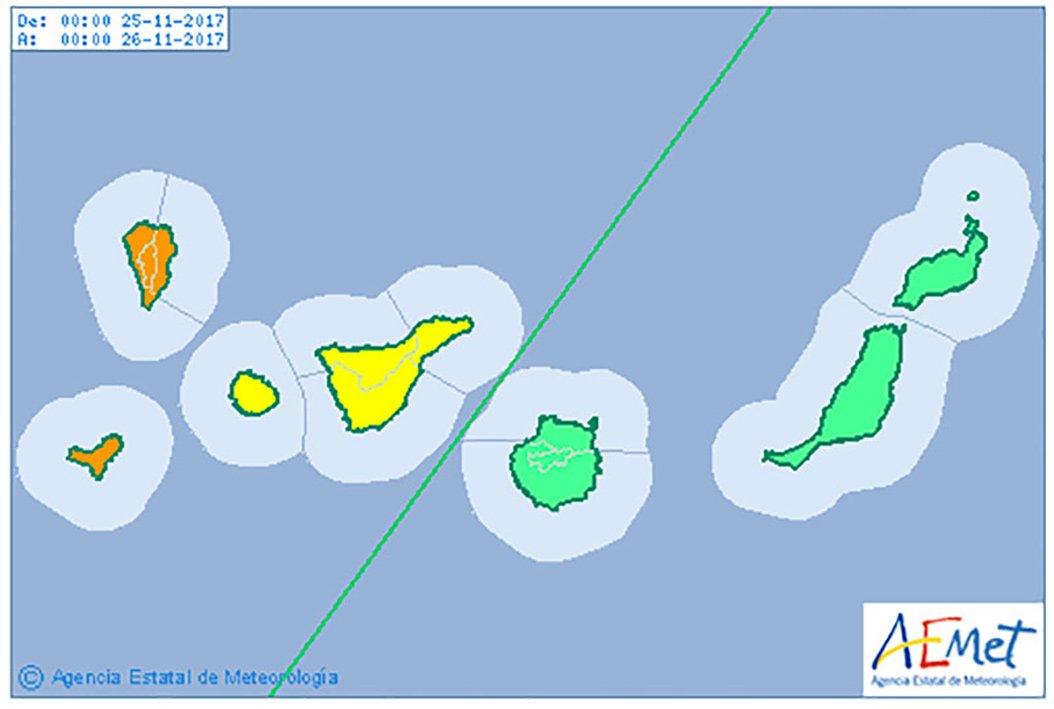 Максимальный уровень предупреждения о дождях и ветрах на островах архипелага