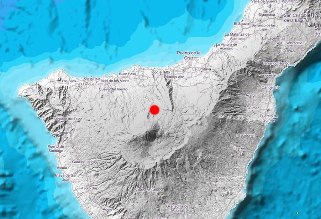 Зарегистрировано землетрясение в 2,1 балла на Тенерифе