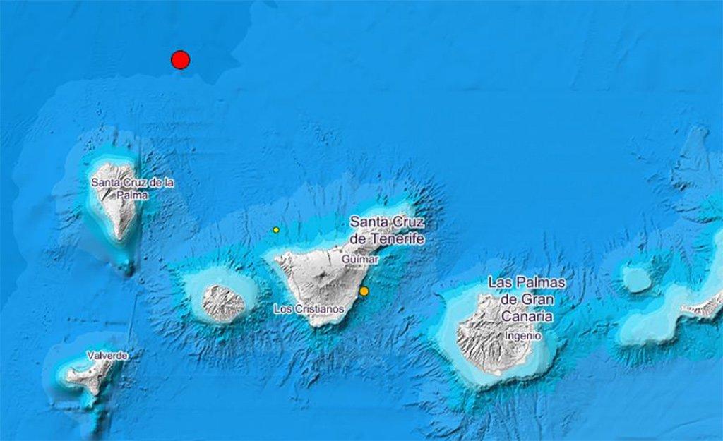 IGN зарегистрировал землетрясение в 4,1 балла на севере от острова La Palma