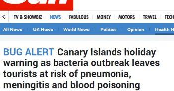 """Британские СМИ подливают масла в огонь: теперь """"поймали"""" на Канарах смертельную бактерию"""