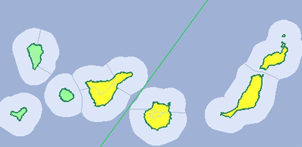 Тенерифе и восточные острова получили на четверг желтое предупреждение о сильных дождях