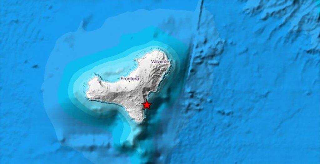 IGN регистрирует землетрясение в 3,6 градуса на острове El Hierro