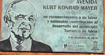 Kurt Konrad, один из главных героев развития Adeje, уже имеет улицу со своим именем