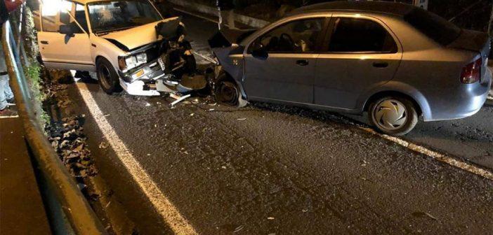 Четверо пострадавших после столкновения трёх автомобилей