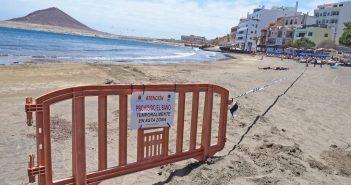 Разлив заставил закрыть пляж El Médano