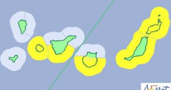 Канары: жёлтое предупреждение о сильных ветрах