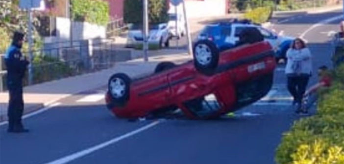 Ранен на Тенерифе после опрокидывания своего автомобиля