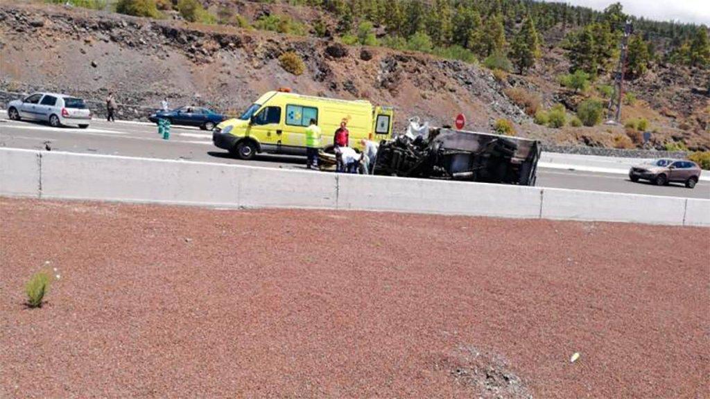 Погибший и раненый на южном шоссе Тенерифе