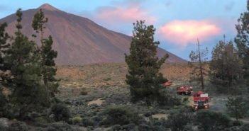 Пожар в Национальном парке Тейде на Тенерифе