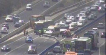 Авария на TF-1: водитель автобуса потерял контроль