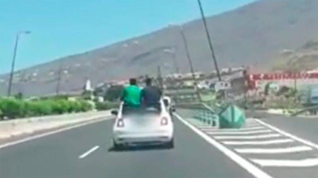 Определены авторы безрассудного вождения на острове Тенерифе