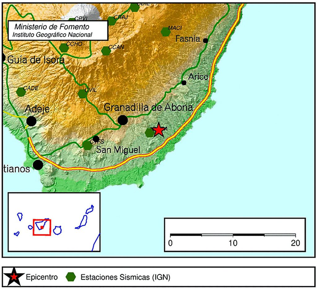 Землетрясение на юге острова Тенерифе
