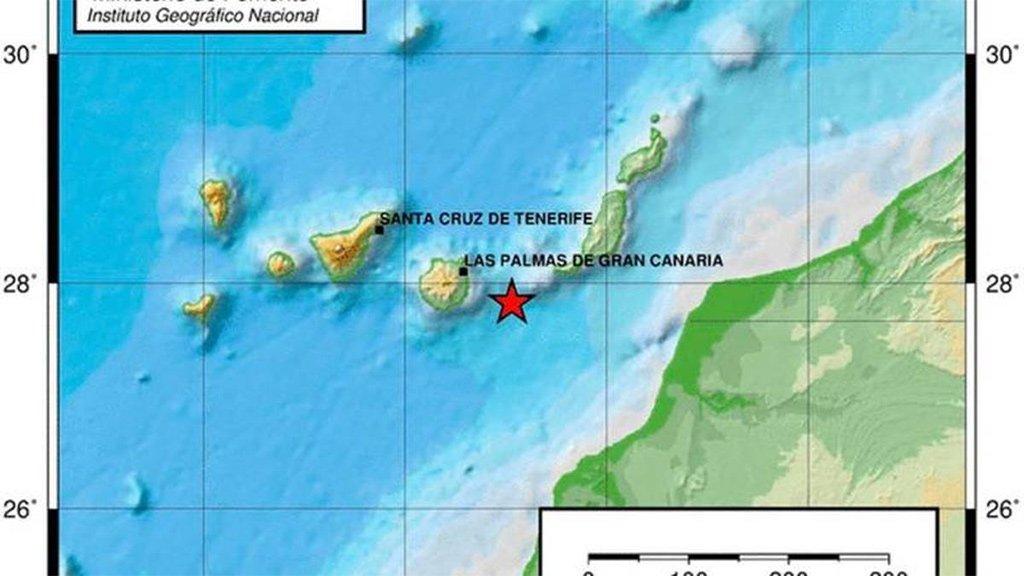 """Сегодня ночью """"тряхнуло"""" остров Гран Канария"""