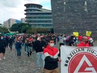Тенерифе: протесты спортзалов и спортивных центров в столице против закрытия