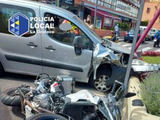 Orotava: женщина потеряла контроль за рулём автомобиля и устроила аварию